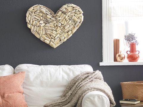 Textile, Room, Interior design, Linens, Flowerpot, Heart, Interior design, Grey, Cushion, Pillow,