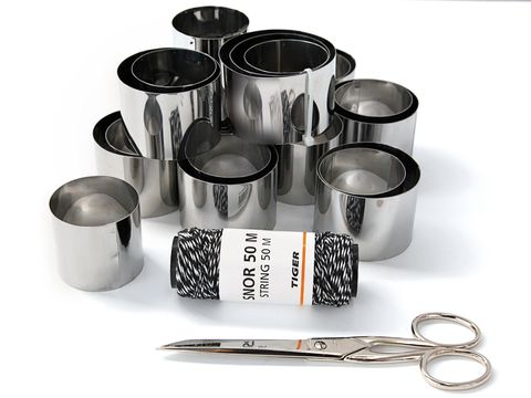 Metal, Scissors, Drinkware, Tin, Aluminium, Home accessories, Cylinder, Silver, Still life photography, Steel,