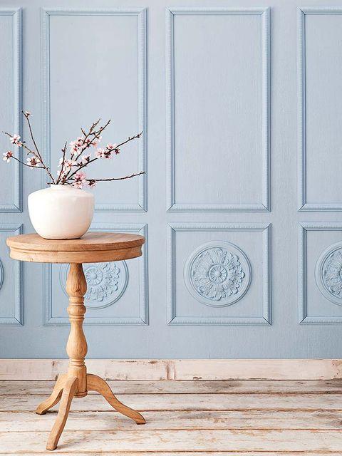 Wood, Branch, Twig, Flowerpot, Wall, Fixture, Natural material, Hardwood, Teal, Home door,