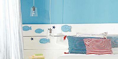 Blue, Room, Interior design, Textile, Wall, Aqua, Linens, Teal, Bedding, Turquoise,