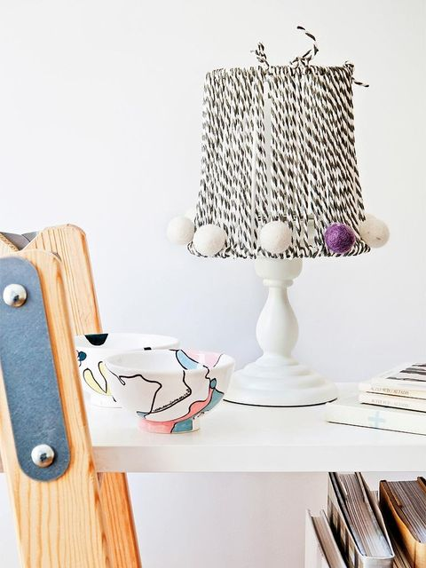 Lampshade, Lighting accessory, Furniture, Room, Clothes hanger, Table, Home accessories, Interior design, Lamp,