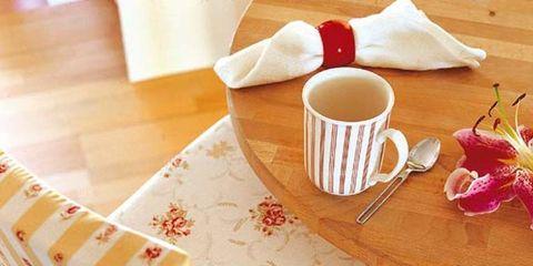 Coffee cup, Cup, Serveware, Wood, Dishware, Drinkware, Teacup, Furniture, Table, Petal,