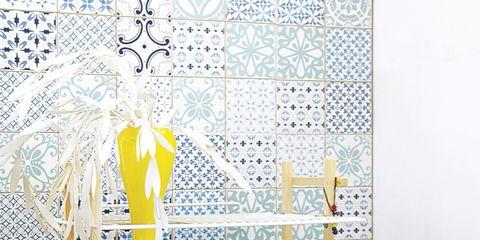 Blue, Majorelle blue, Interior design, Household supply, Still life photography, Plastic, Wicker,
