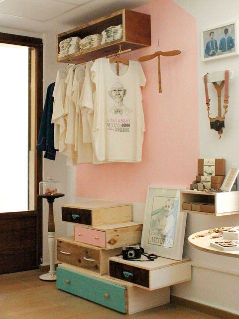 Room, Clothes hanger, Collection, Box, Home accessories, Plywood,