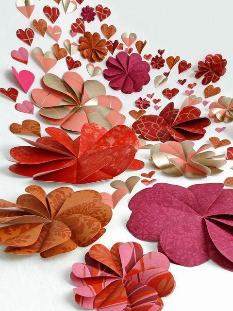 Petal, Red, Leaf, Pattern, Art, Orange, Valentine's day, Creative arts, Illustration, Heart,