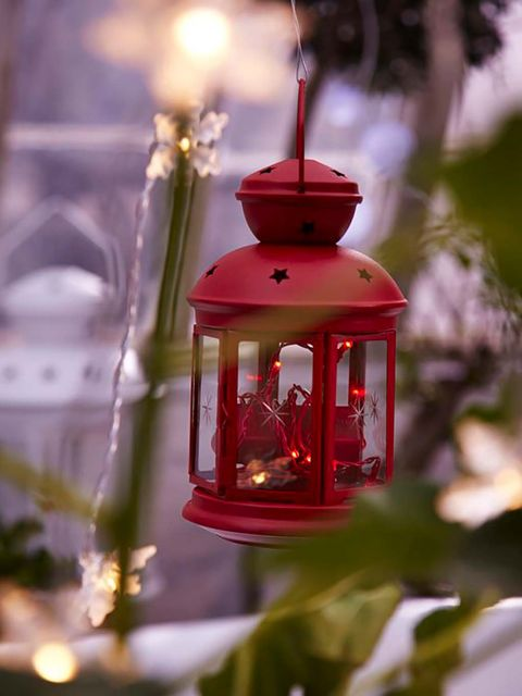 Lighting, Lantern, Ornament, Tree, Christmas ornament, Interior design, Bird feeder, Plant, Christmas decoration, Christmas,