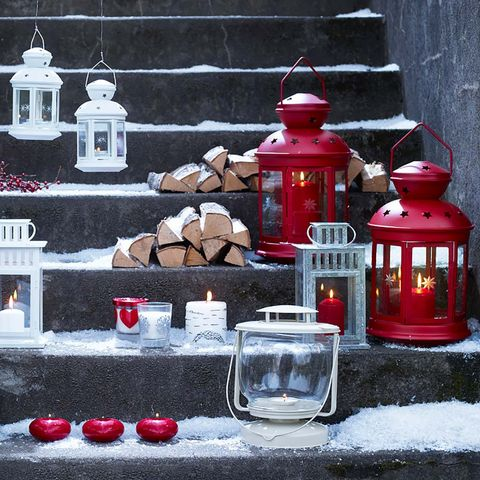 Red, Lantern, Still life, Still life photography, Window, Glass, Winter,