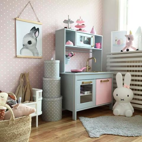 Furniture, Room, Pink, Product, Interior design, Shelf, Chest of drawers, Floor, Table, Dresser,
