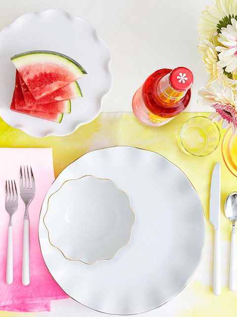 Dishware, Plate, Food, Fork, Porcelain, Tableware, Cutlery, Spoon, Platter, Breakfast,