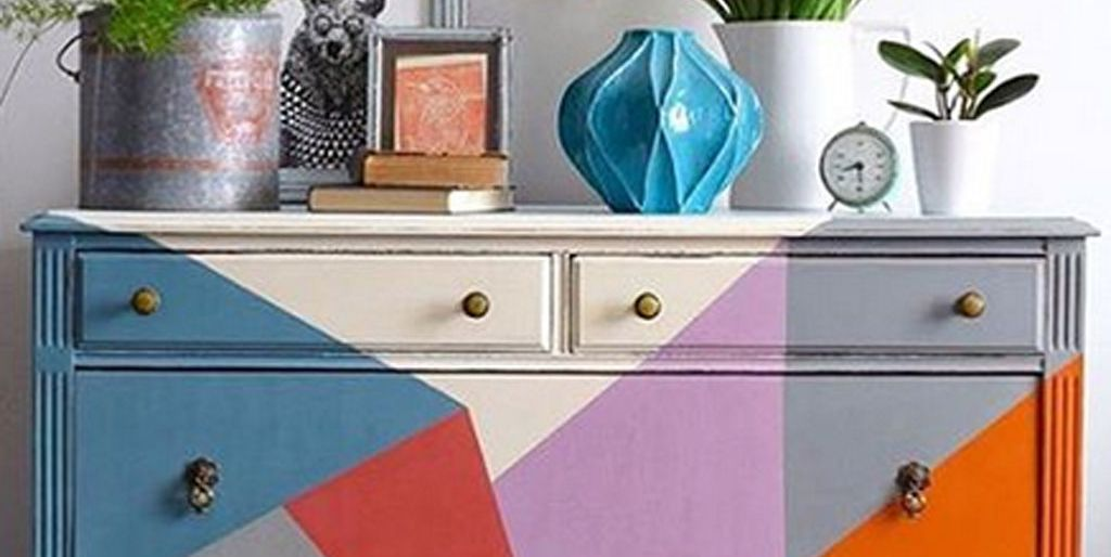 Mueble pintado con chalk paint