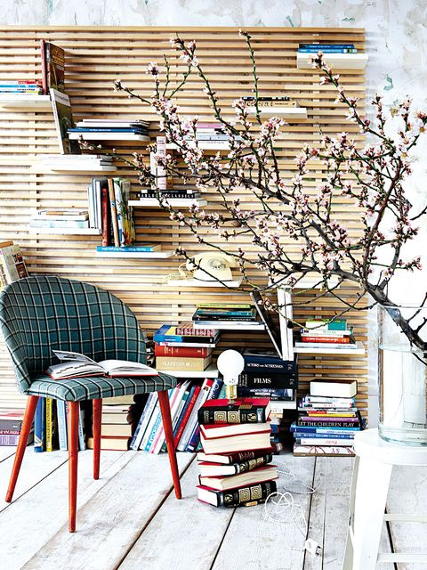 Wood, Branch, Interior design, Furniture, Publication, Twig, Wall, Hardwood, Shelving, Shelf,