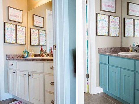 Las mejores ideas para pintar muebles con chalk paint - Pintar mueble bano ...
