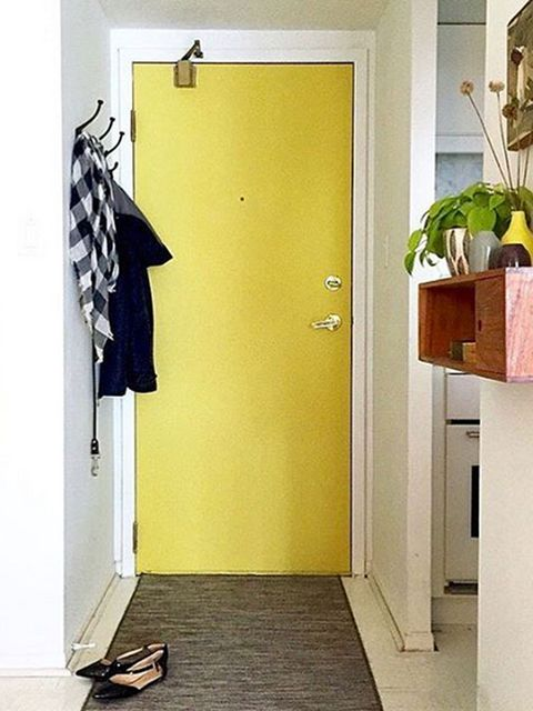 Floor, Flooring, Wall, Fixture, Door, Home door, Houseplant, Clothes hanger, Wood flooring, Flowerpot,