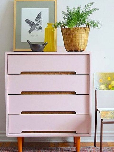 Wood, Yellow, Flowerpot, Wall, Drawer, Interior design, Sideboard, Hardwood, Chest of drawers, Still life photography,