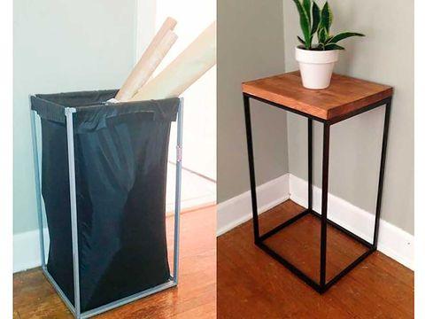 Flowerpot, Teal, Rectangle, Houseplant, Plywood, Wood stain, Artifact, Plant stem, Vase, Varnish,