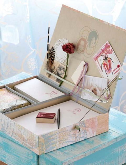 Still life photography, Box, Peach, Paint, Cosmetics, Stationery, Still life, Brush, Floral design, Paper,