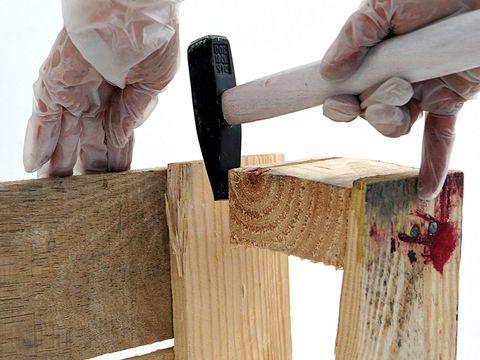Wood, Hardwood, Hammer, Wood stain, Wooden block, Plastic bag, Axe, Lumber, Splitting maul, Hatchet,
