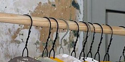 Product, Yellow, Wall, Grey, Home accessories, Iron, Clothes hanger, Wire, Cable, Linens,