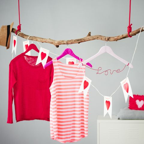 Product, Sleeve, Red, Collar, White, Pink, Pattern, Clothes hanger, Carmine, Baby & toddler clothing,