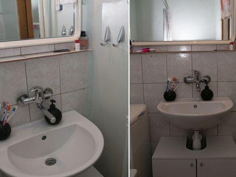 Bathroom, Property, Bathroom sink, Tap, Sink, Room, Plumbing fixture, Bathroom accessory, Interior design, Toilet,