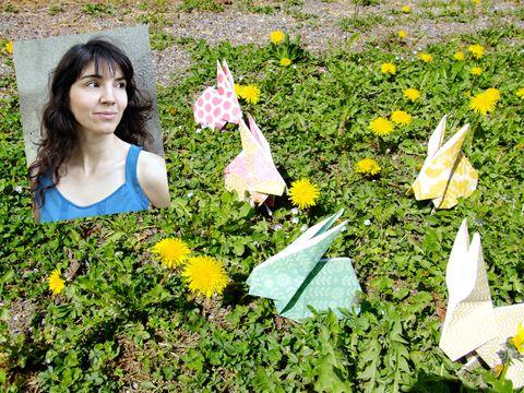 Human, Yellow, Petal, Leaf, Flower, People in nature, Bangs, Groundcover, Wildflower, Craft,