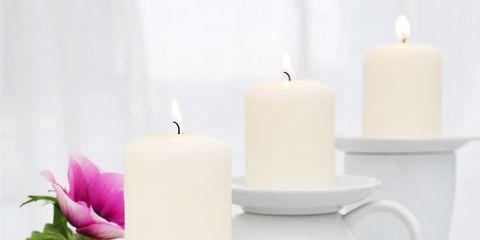 Serveware, Dishware, White, Candle, Petal, Wax, Drinkware, Porcelain, Ceramic, Candle holder,