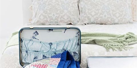 Blue, Textile, Bag, Teal, Turquoise, Linens, Baggage, Home accessories, Suitcase,