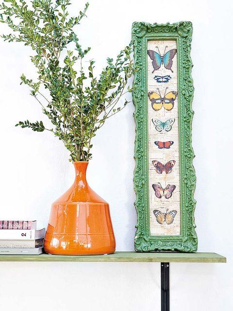 Paint, Art, Art paint, Plant stem, Vase, Flowerpot, Still life photography, Artwork, Creative arts, Peach,