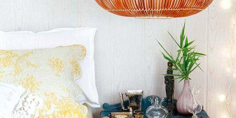 Blue, Yellow, Room, Interior design, Textile, Bedding, Linens, Wall, Amber, Interior design,