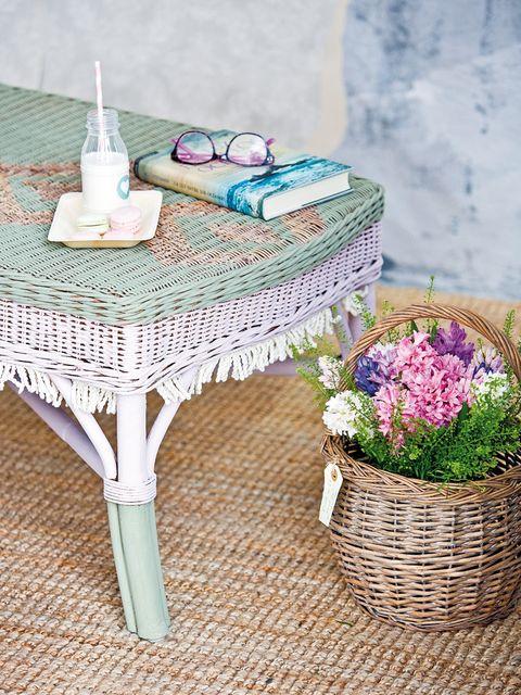 Flower, Lavender, Purple, Petal, Violet, Home accessories, Cut flowers, Basket, End table, Lavender,
