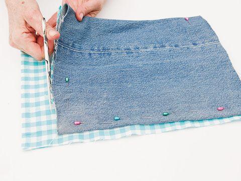 Blue, Denim, Textile, Pattern, Aqua, Azure, Teal, Turquoise, Stitch, Pocket,
