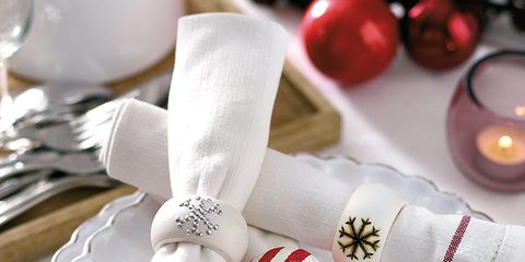 White, Carmine, Pattern, Knot, Sock, Silver, Ribbon, Christmas, Home accessories, Ornament,