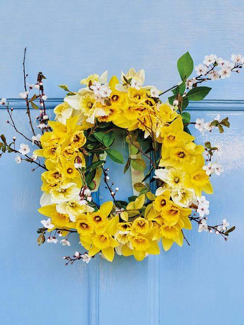 Flower, Yellow, Cut flowers, Wreath, Plant, Bouquet, Spring, Floristry, Christmas decoration, Flower Arranging,