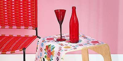 Red, Bottle, Barware, Glass, Drinkware, Carmine, Drink, Linens, Glass bottle, Home accessories,