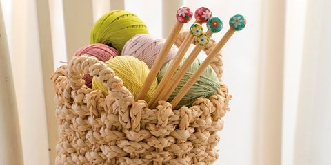 Product, Household supply, Basket, Wicker, Storage basket, Rope, Thread, Home accessories, Still life photography, Fiber,