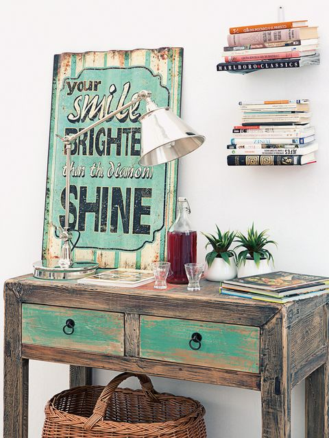 Room, Teal, Interior design, Turquoise, Aqua, Lamp, End table, Publication, Interior design, Drawer,