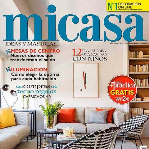 Magazine, Room, Interior design, Furniture, Home, Publication, Living room, Font, House, Building,