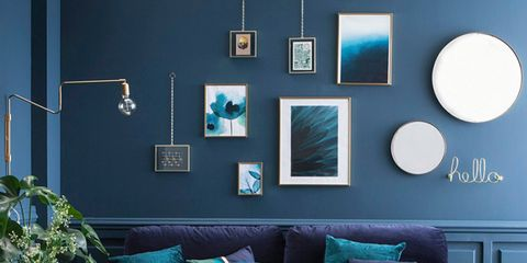 Living room, Blue, Furniture, Couch, Room, Turquoise, Interior design, Green, Aqua, Teal,