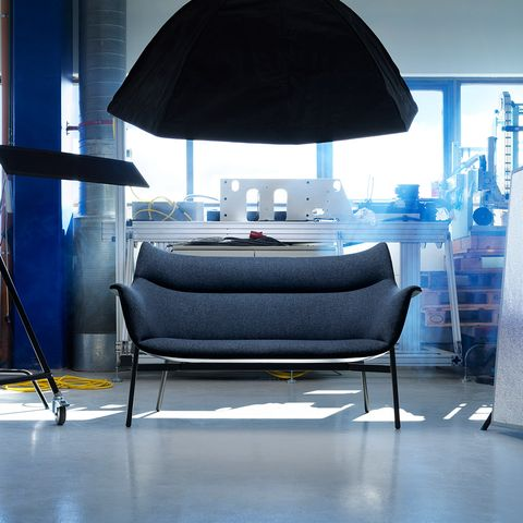 Blue, Furniture, Interior design, Lighting, Room, Table, Couch, Lamp, Living room, Floor,