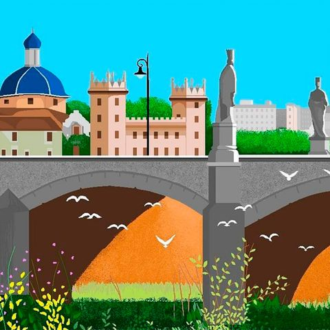 Illustration, Landmark, Grass, Art, Mosque, Building, Castle, City,