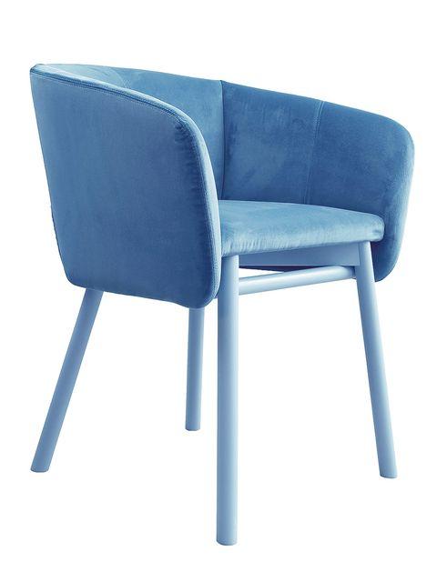 Blue, Furniture, Electric blue, Azure, Armrest,
