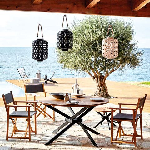 Wood, Furniture, Table, Outdoor furniture, Outdoor table, Ocean, Shore, Kitchen & dining room table, Beach, Design,