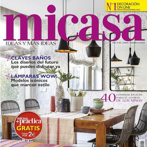 Magazine, Interior design, Room, Furniture, Material property, Font, Home, Table, Building,