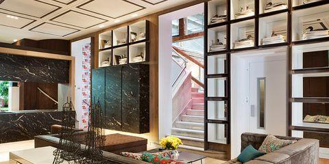 Lighting, Interior design, Floor, Ceiling, Wall, Glass, Flooring, Interior design, Fixture, Tile,