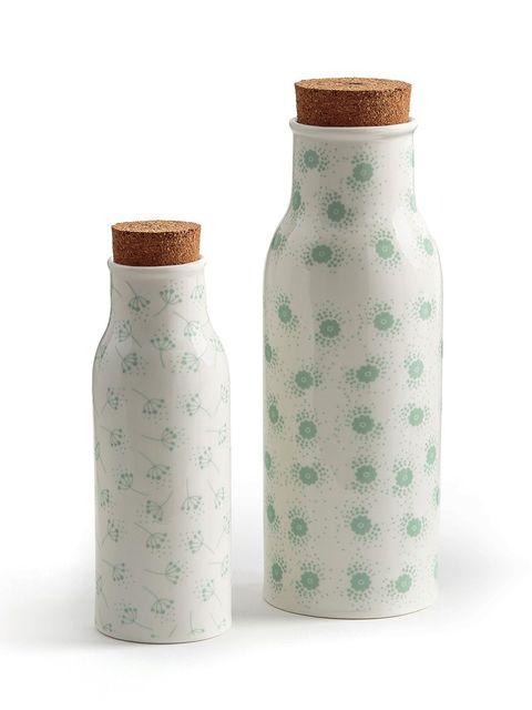 Bottle, Green, Vase, Aqua, Mason jar, Home accessories, Ceramic, Plastic bottle, earthenware, Water bottle,