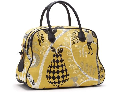 Product, Yellow, Bag, White, Fashion accessory, Style, Luggage and bags, Shoulder bag, Pattern, Fashion,