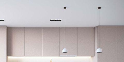 Countertop, Kitchen, White, Room, Cabinetry, Furniture, Property, Interior design, Tile, Floor,