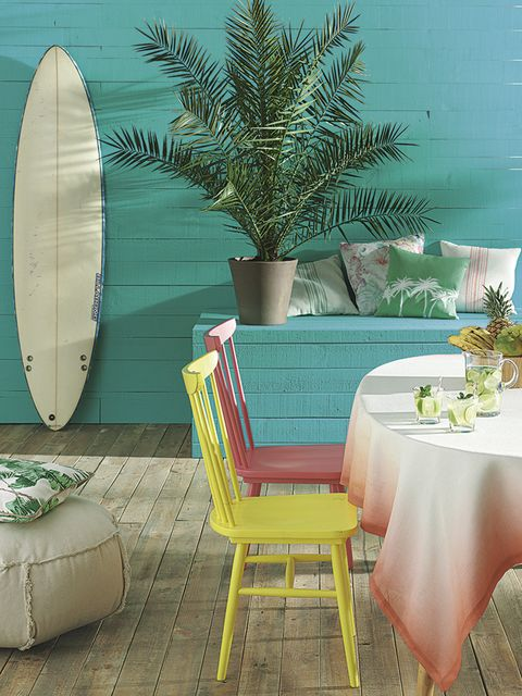 Green, Furniture, Tablecloth, Turquoise, Teal, Aqua, Surfing Equipment, Couch, Interior design, Home accessories,