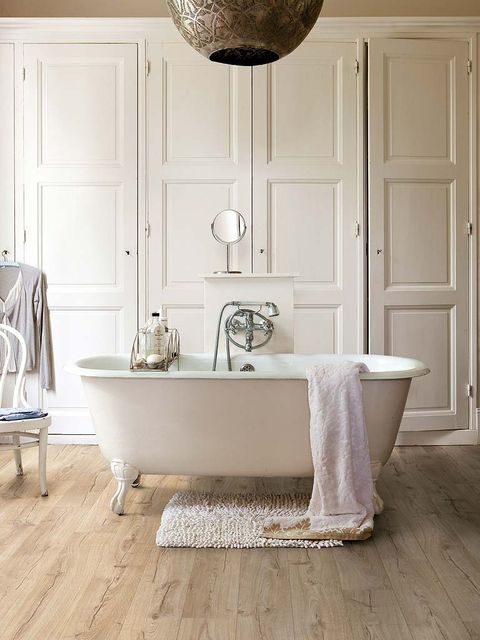 Floor, Room, Wood, Plumbing fixture, Flooring, Property, Interior design, Wall, Door, Light fixture,
