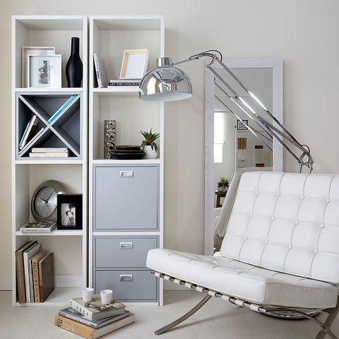 Room, Wood, Interior design, Wall, White, Shelving, Furniture, Floor, Home, Shelf,
